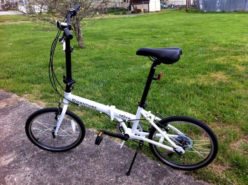 downtube folding bike